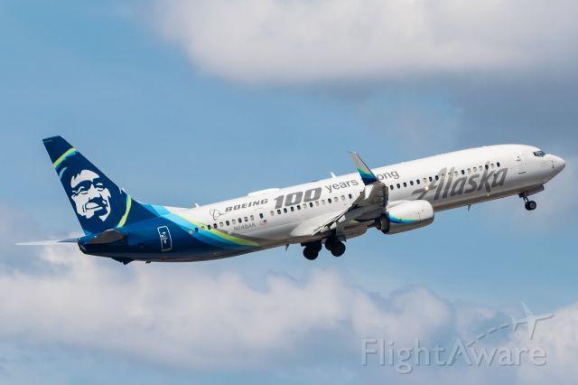Boeing 737-900 (N248AK) - Departing 13R 7/21/2020