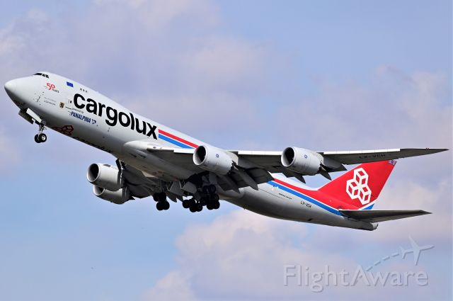 BOEING 747-8 (LX-VCH) - Cargolux Airlines International Boeing 747-8R7F departing YYC on May 5.