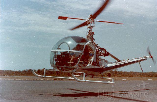ROGERSON HILLER UH-12E Hauler (VH-FFE) - Hovering at Hiller 12E at Caloundra Queensland