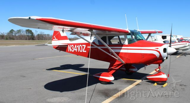 Piper PA-22 Tri-Pacer (N3410Z) - A 1960 PA-22-150 Piper Tri-Pacer tied down on the ramp at Thomas J. Brumlik Field, Albertville Regional Airport, AL - February 25, 2017.