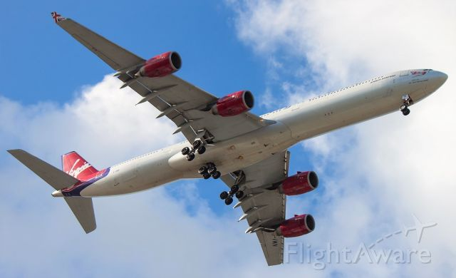 Airbus A340-600 (G-VWIN) - VS29 on approach from LGW