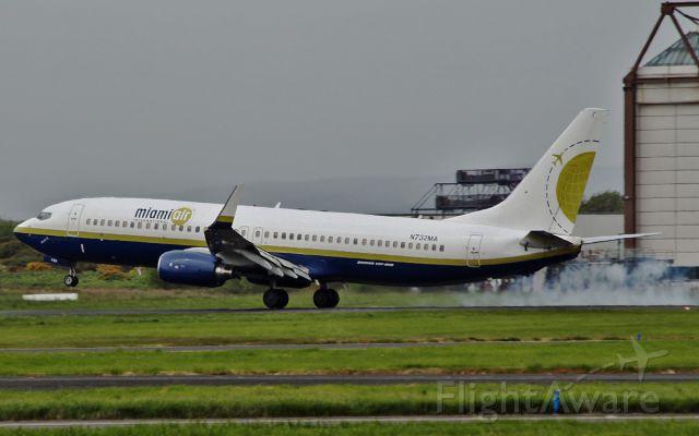 Boeing 737-800 (N732MA) - miami air b737-8 n732ma landing at shannon 21/5/15.