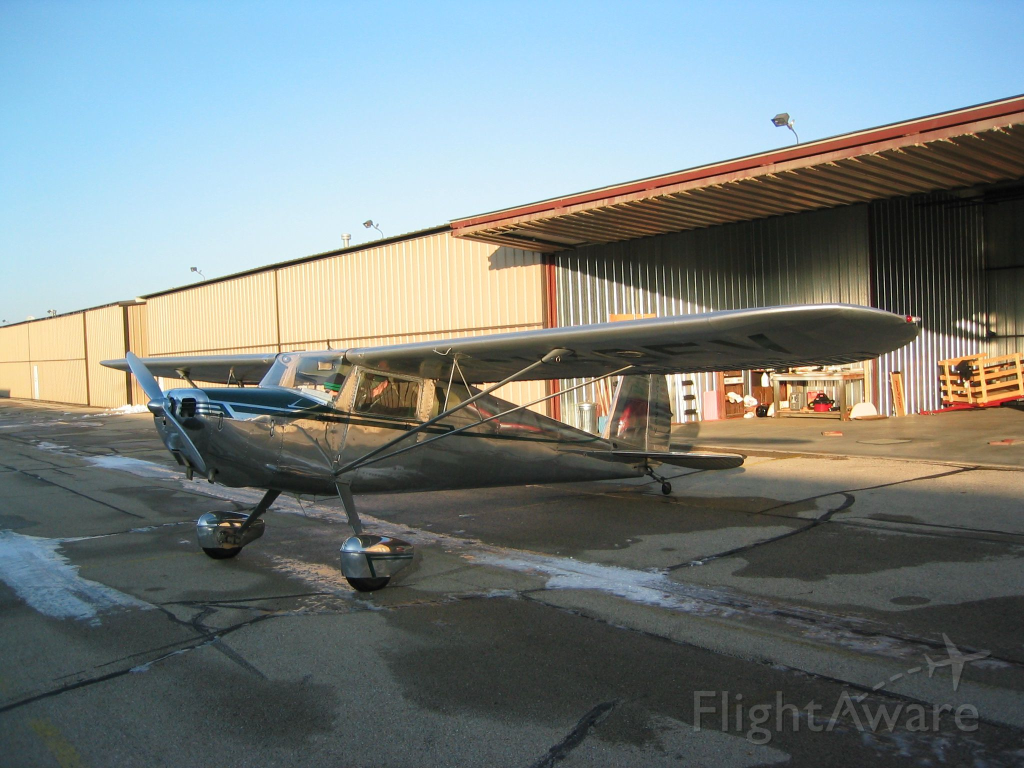 Cessna 140 (N1695V) - Getting ready on a cold day...