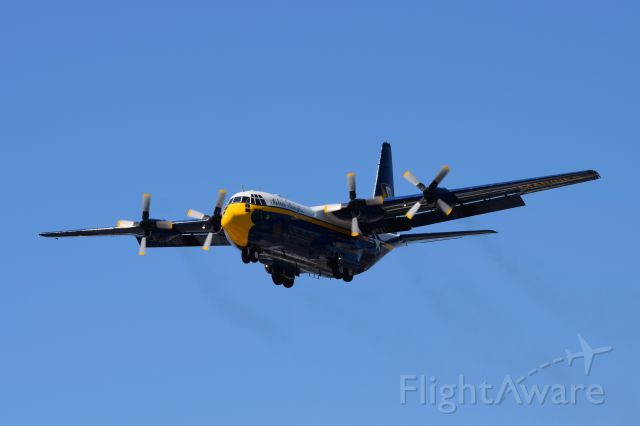 — — - Fat Albert setting up to land