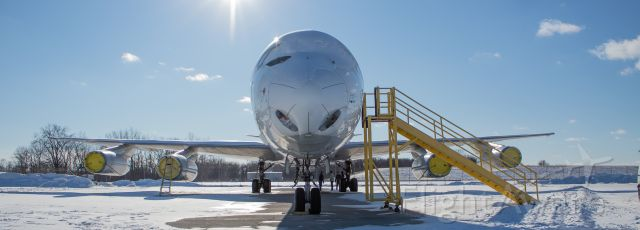 N865F — - A head to head shot with N865F while its sitting on the Kalitta ramp.
