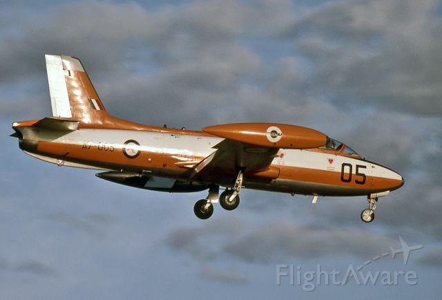 A7005 — - AUSTRALIA - AIR FORCE - COMMONWEALTH CA-30 (MB-326H) - REG A7-005 (CN CA30-005) - EDINBURGH RAAF BASE ADELAIDE SA., AUSTRALIA - YPED (4/10/1984)