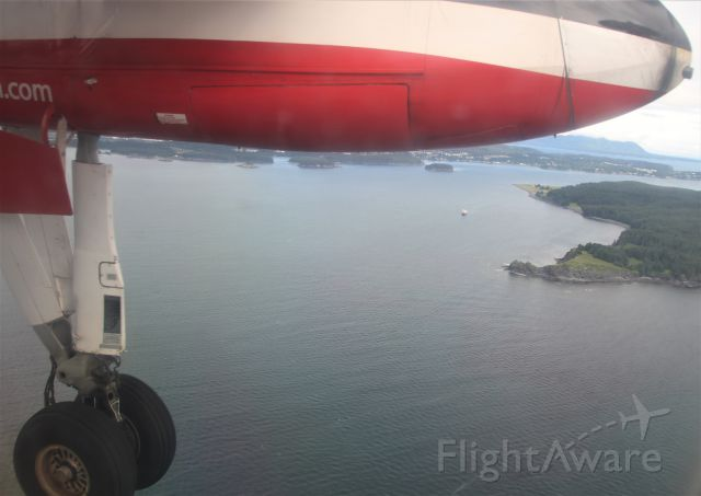 de Havilland Dash 8-100 (N883EA) - On approach into Kodiak,AK.