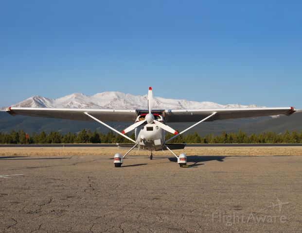 Cessna Skywagon (N104BW) - This Skywagon could have just rolled off the factory floor.  Seen here during a Pancake Breakfast visit to Leadville.