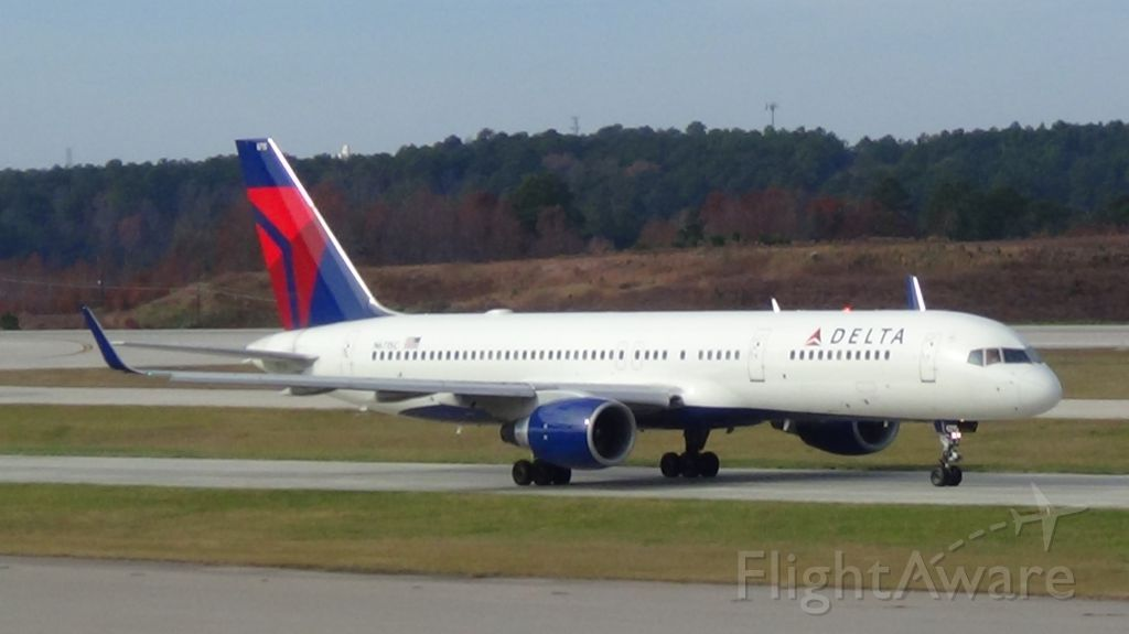 Boeing 757-200 (N6715C) - Delta 1294 departing to Atlanta at 11:14 P.M.   Taken November 29, 2015.   <br />Aircraft is was soon thereafter retired.