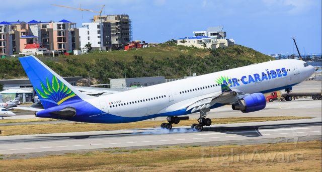 Airbus A330-200 (F-OFDF) - Air Caraibes landing at TNCM St Maarten.
