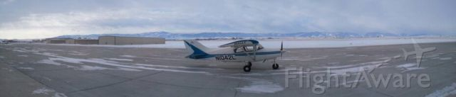 — — - N1042L at Sheridan, Wyoming just before our flight back to Quakertown, Pa.