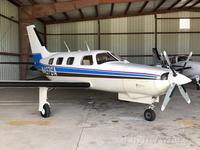 Piper Malibu Mirage (N4376A) - Malibu N4376A at home base KHKS