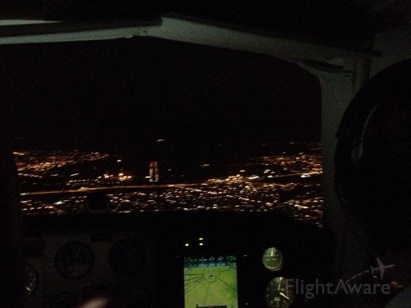 Beechcraft 35 Bonanza (PR-ODT) - Night IFR Landing at SBCG