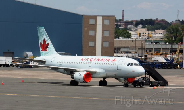 Airbus A319 (C-GBHN) - Air Canada A319-114 (C-GBHN) chartered the Toronto Blue Jays to Boston to play the Red Sox. AC used to operate A319/A320 aircraft on a regular basis. Today however, flights to Canada from BOS are operated by CRJ/ERJ and Dash 8 aircraft.