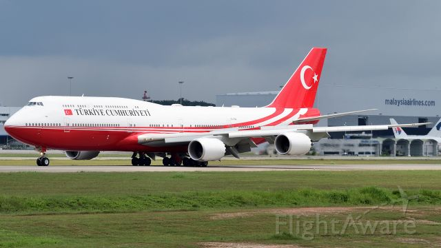BOEING 747-8 (TC-TRK) - Turkish President Recep Tayyip Erdogan arrives for the Kuala Lumpur Summit 2019.