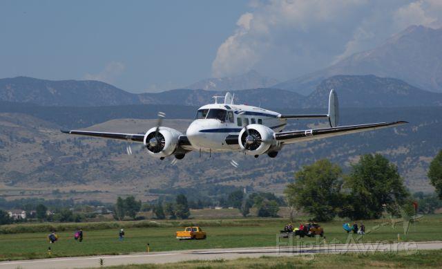 Beechcraft 18 (N103AF) - Photo pass at KLMO