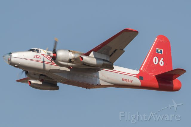 Lockheed P-2 Neptune (N9855F) - Departing for the Gap Fire.