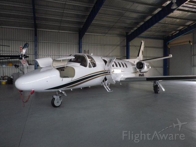 Cessna Citation II (VH-JMK) - VH-JMK inside JM Kelly Builder's hangar at Rockhampton