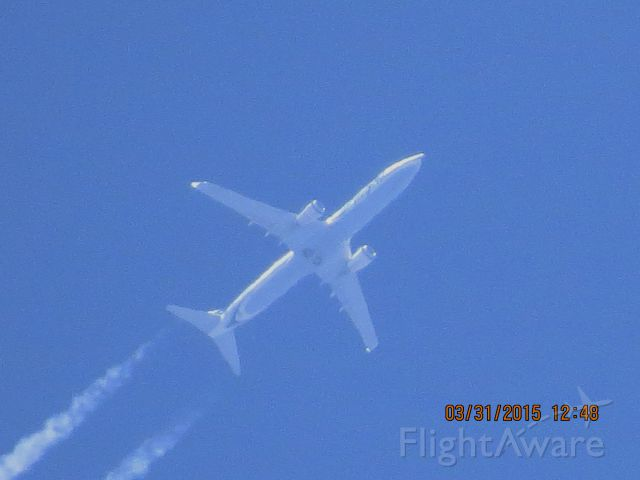Boeing 737-900 (N323AS) - Alaska Airlines flight 774 from SEA to TPA over Southeastern Kansas at 35,000 feet.