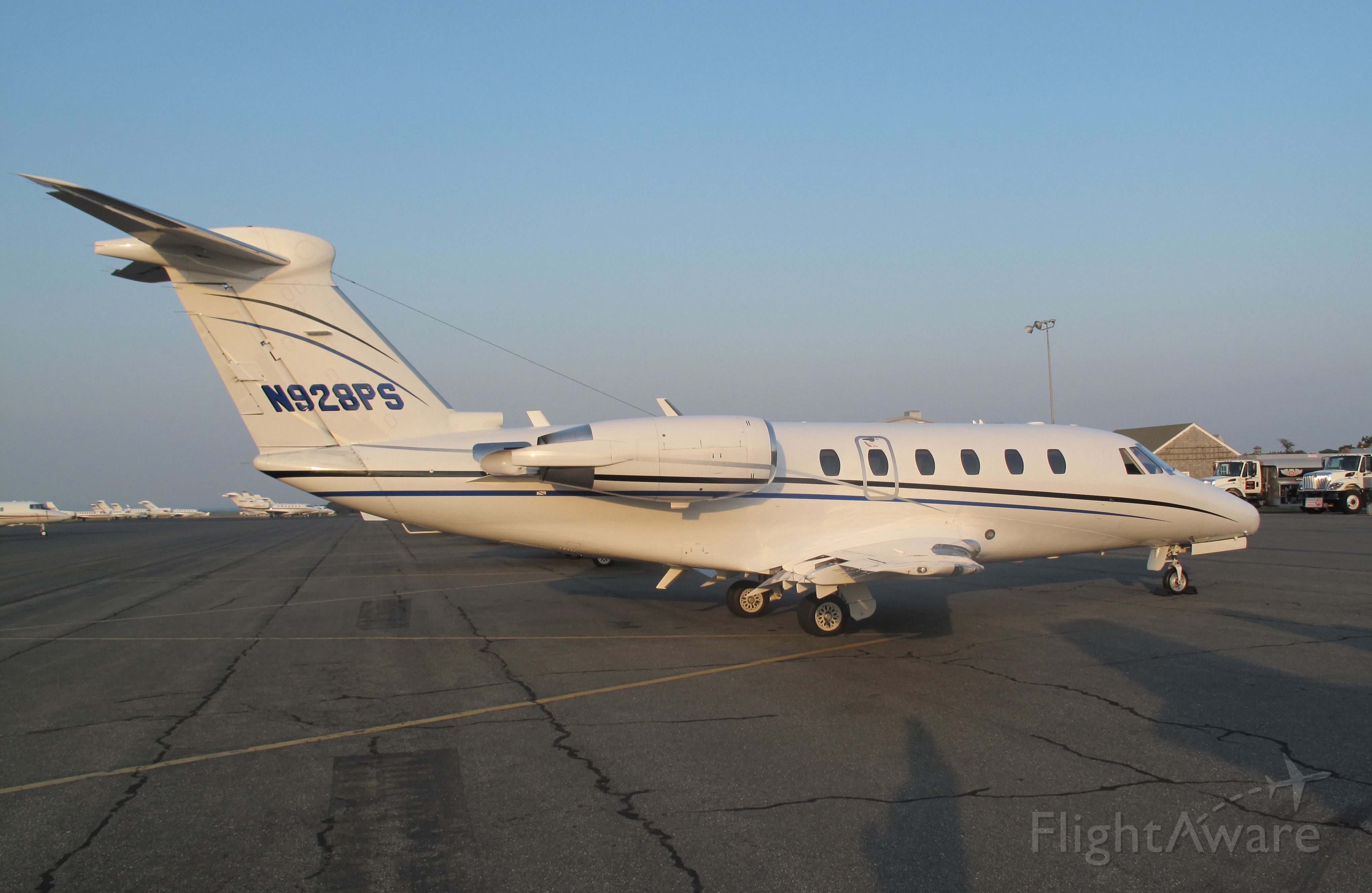 Cessna Citation III (N928PS) - On a busy summer day at Nantucket.