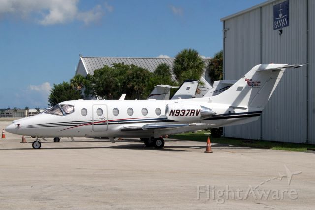 Beechcraft Beechjet (N937RV) - Sky One Holdings Beechjet parked on the Banyan ramp on 20-Oct-18 two days before heading to KTLH as PVO209.