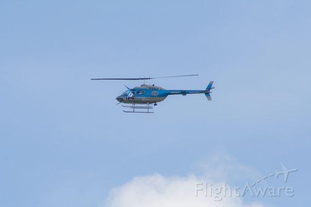 N722S — - Bell OH-58A Charleston County Sheriff Chopper flies over Charleston, S.C.
