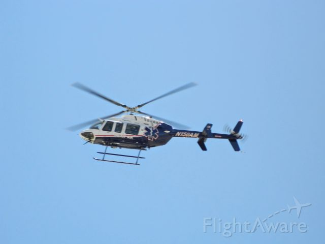 Bell 407 (N150AM) - LZ  in the street to pick-up a patient  Mon, Aug 12, 2013
