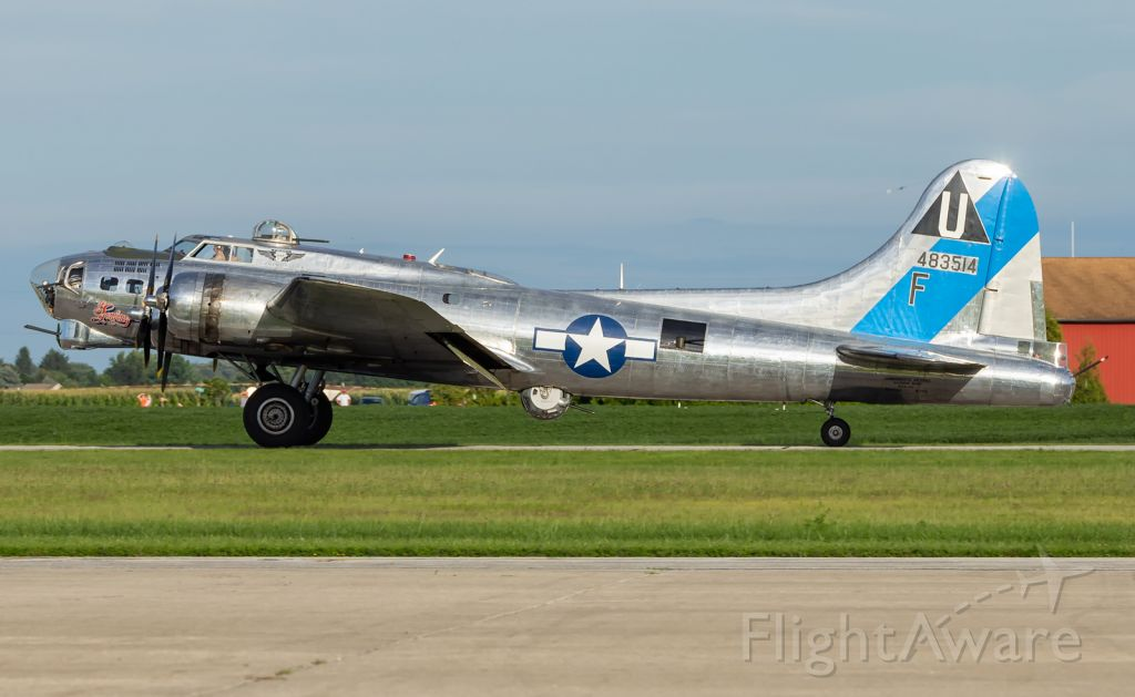 Boeing B-17 Flying Fortress (N9323Z) - Sentimental Journey after touch down, on her arrival to KPPO.