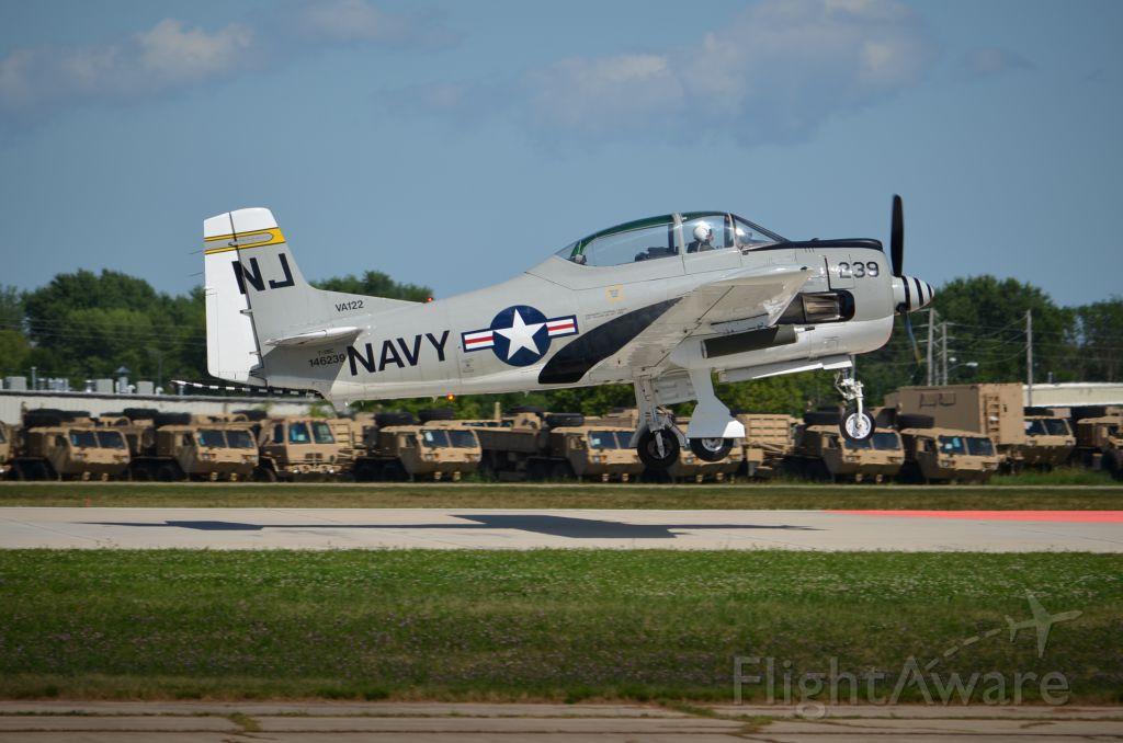 North American Trojan — - EAA 2011 T-28 on take off.