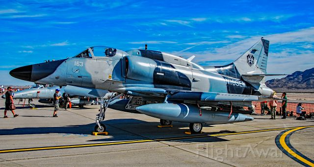 SINGAPORE TA-4 Super Skyhawk (N163EM) - N163EM Draken 1972 McDonnell Douglas A-4N Skyhawk C/N 159815 - Las Vegas - Nellis AFB (LSV / KLSV)<br />Aviation Nation 2016 Air Show<br />USA - Nevada, November 12, 2016<br />Photo: TDelCoro