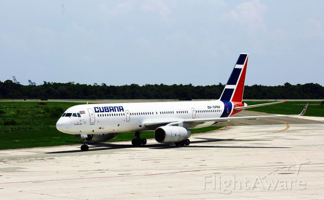 Tupolev Tu-214 (CUT1702) - CUBANA T204 TAXING TO THE GATE AT MDSD AIRPORT!