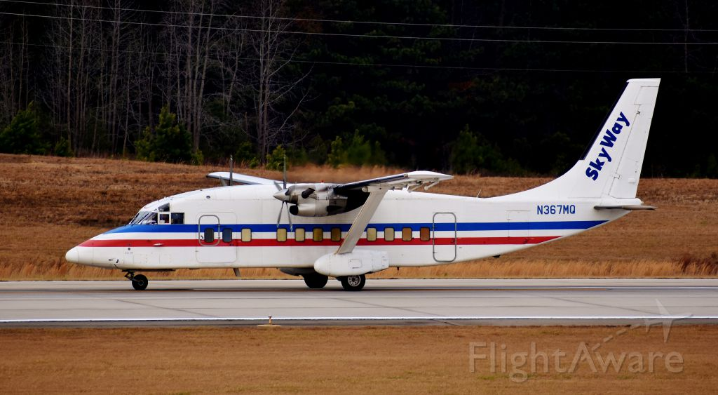 Short SD3-60 (N367MQ) - WELL BY GOLLY! Why if it aint a Short, a plane I have not seen at RDU in years - some have shown up, but I have missed them in the past. This takes me right back to my childhood during the American RDU hub days. Interestingly enough, I was tracking this guy from CLT-GSO, wishing I could see it, when I noticed 30 minutes later that it was inbound... I jumped for joy. My early Christmas present! Turned right around and left for CAE, I believe. 12/23/17.