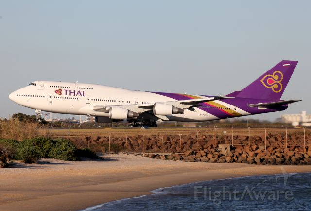 Boeing 747-400 (HS-TGA) - Lifting Off From Rwy 34L