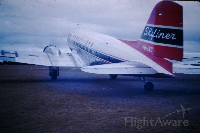 Douglas DC-3 (VH-INC) - Ansett-ANA DC3 starting up, circa 1959