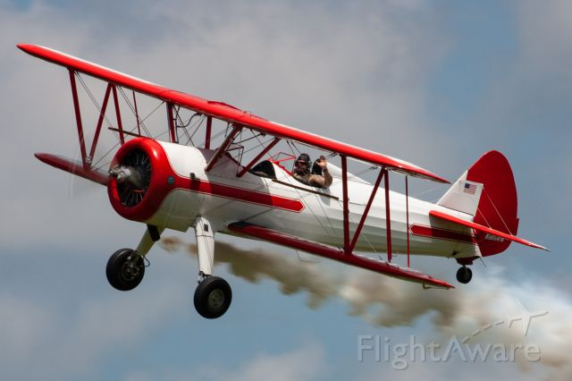 Boeing PT-17 Kaydet (N801RB) - A gorgeous 1943 Boeing Stearman flown by Robert Preston at the 2019 Greatest Show on Turf in Geneseo, NY