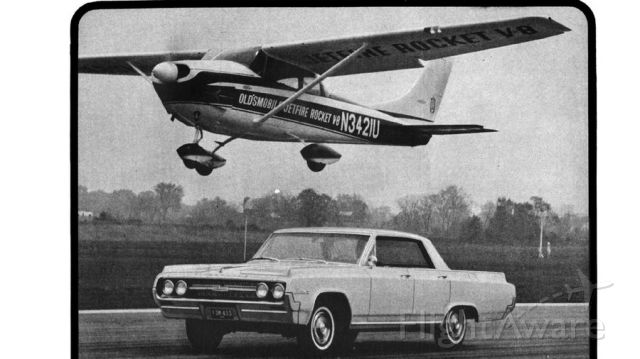 Cessna Skylane (N3421U) - From Hemmings Motor News, an Oldsmobile advertisement for the 1964 Oldsmobile with the Jetfire Rocket V-8 engine which was installed in this Cessna.