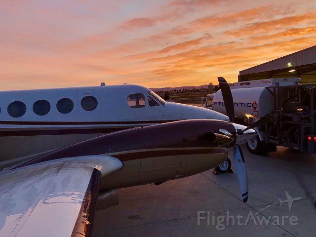 Beechcraft Super King Air 200 (N777SS) - King air at sunrise