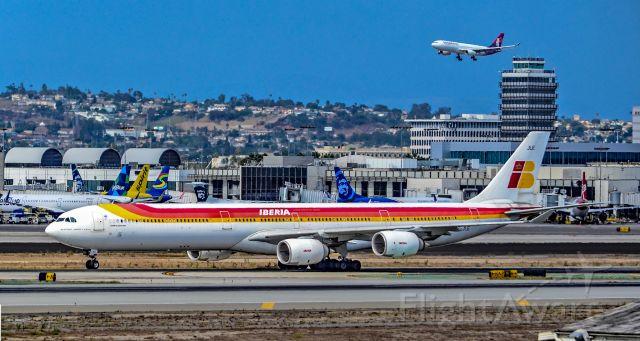 "Airbus A340-600 (EC-JLE) - EC-JLE Iberia Airbus A340-642 s/n 702 ""Santiago Ramón y Cajal"" - Los Angeles International Airport (IATA: LAX, ICAO: KLAX, FAA LID: LAX)br /Photo: TDelCorobr /September 3, 2017"