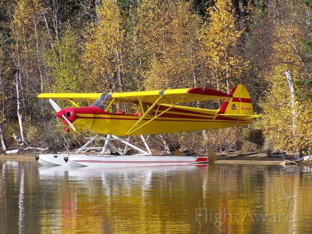 Piper L-21 Super Cub (N2666P) - Fall Fishing Trip Northern SK.