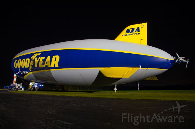 Unknown/Generic Airship (N2A) - N2A rests on the mast on a calm early summer night in Ohio.