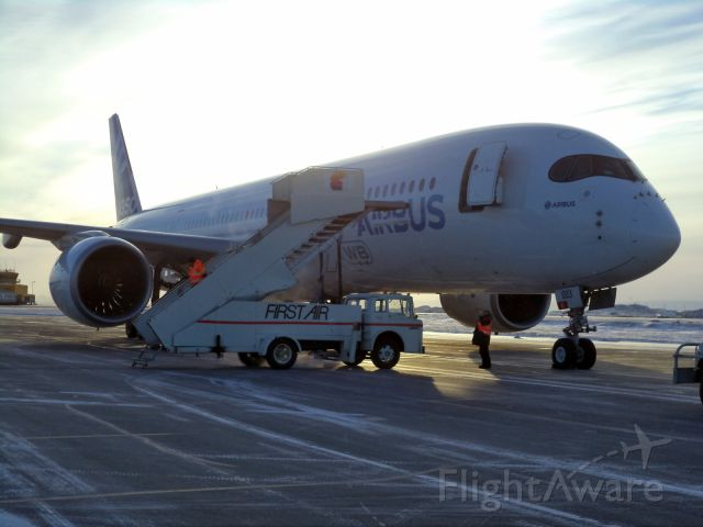 Airbus A350-900 (F-WZGG) - Cold weather testing at CYFB