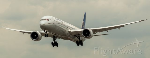 BOEING 787-10 Dreamliner (N14001) - United Airlines Boeing 787-10 arriving from Houston Bush Intercontinental landing on runway 29 at Newark on 8/4/21.