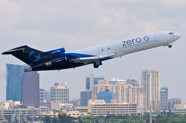 Boeing 727-100 (N794AJ) - G Force One  taking off for a zero gravity ride over the Gulf of Mexico.