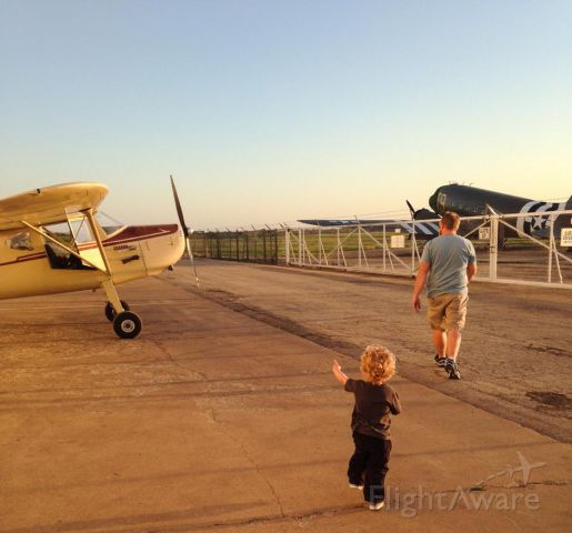Cessna 140 (N4116N) - Taking my little boy up on his very first flight.