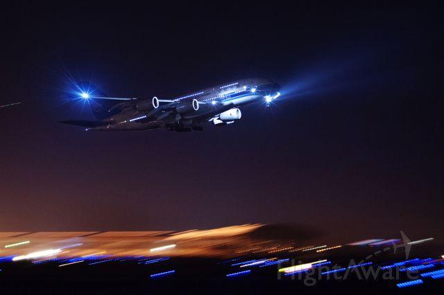 Airbus A380-800 (B-6136) - OCT.2 TRAINING _PHOTO BY ZHONGYI85mmF2II_ISO3200 1/10s F2.8