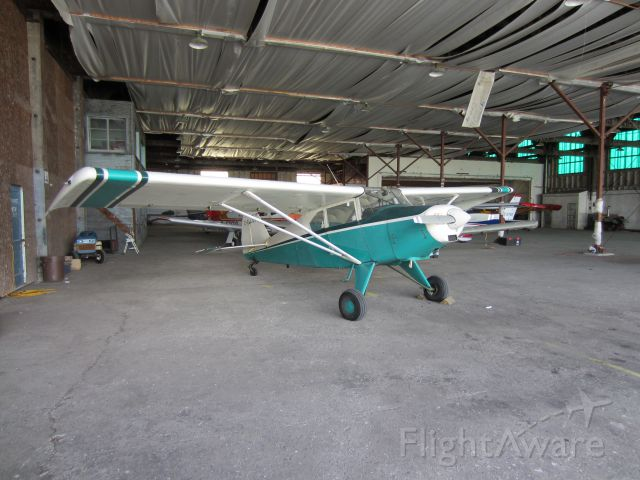 Piper PA-20 Pacer (C-FLQK) - In the Kingston flying club hangar