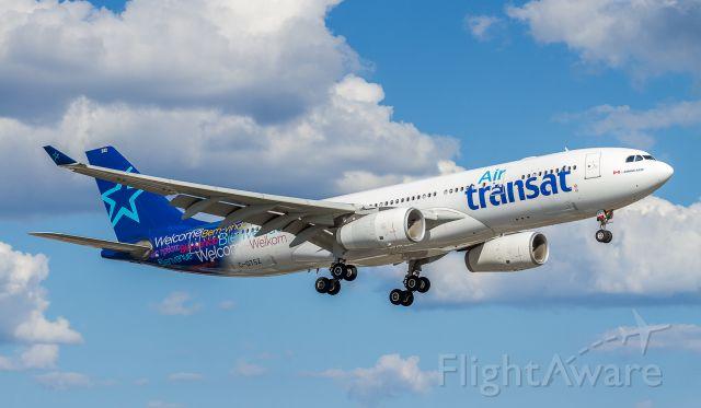 Airbus A330-300 (C-GTSZ) - TSC309 arrives in Toronto from Leonardo Da Vinci Intl (Fiumicino Intl) after a 9hr and 6 min voyage.
