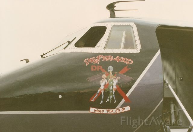 — — - Doctor Feelgood Motley Crues G-1 at New Orleans Lakefront Airport.  where the old Pan Air hangar was on the west side of the airport.