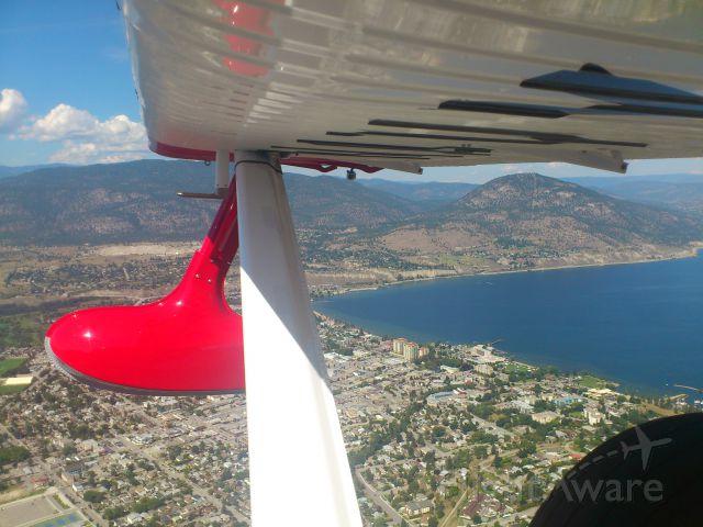 REPUBLIC Seabee (N64PN) - Downwind, from Okanagan Lake. Penticton Airport, Canada CYYF Aug 2013. Republic R-34 Seabee