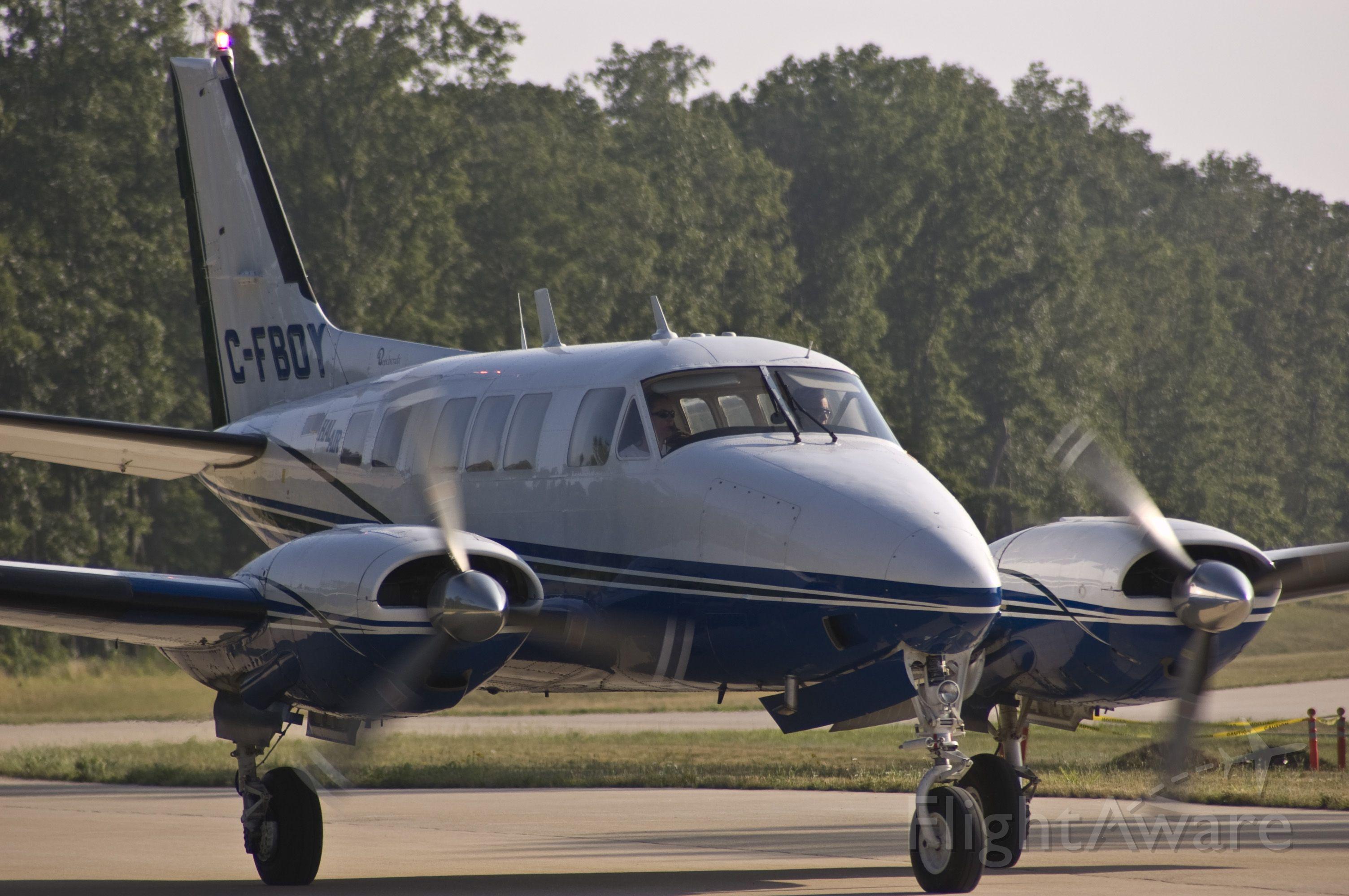 — — - Queen Air at Washington